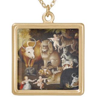 Peaceable Kingdom, c.1834 (oil on canvas) Custom Necklace