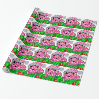 PeaceCat Holiday Giftwrap Paper Wrapping Paper