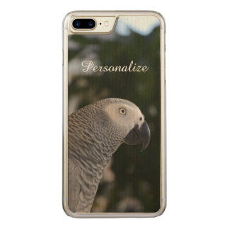 Peaceful African Grey Carved iPhone 8 Plus/7 Plus Case