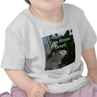 Peaceful African Grey T Shirts