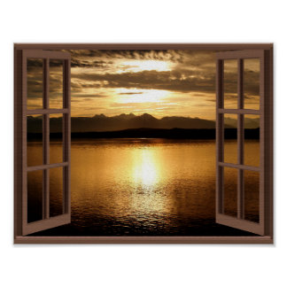 Peaceful and Serene Calm Waters Poster