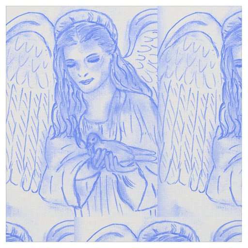Peaceful Angel in Blue Fabric