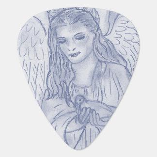 Peaceful Angel in Dusky Blue Plectrum