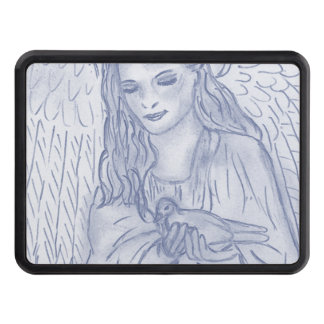 Peaceful Angel in Dusky Blue Tow Hitch Covers