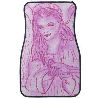 Peaceful Angel in Pink Floor Mat