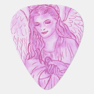 Peaceful Angel in Pink Guitar Pick