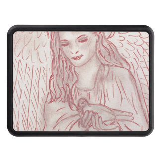 Peaceful Angel in Red Tint Hitch Covers
