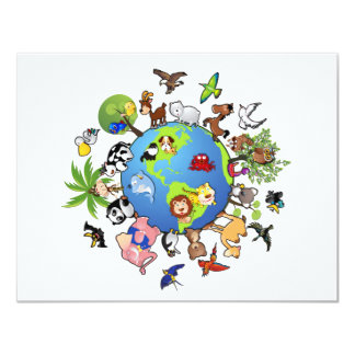 Peaceful Animal Kingdom - Animals Around the World Card