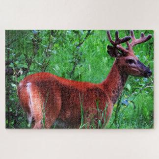 Peaceful Animal | Wood Deer Jigsaw Puzzle