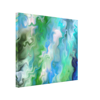 Peaceful Aquamarine  Abstract 1.7 Canvas Print