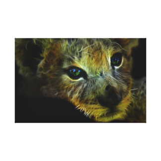 Peaceful Baby Lion Gallery Wrapped Canvas