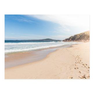 Peaceful beach scene postcard