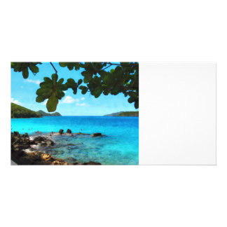 Peaceful Beach St Thomas Picture Card