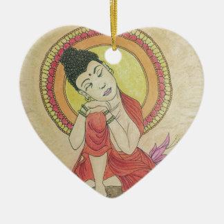 Peaceful buddha christmas ornament