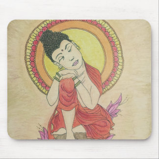 Peaceful buddha mouse mat
