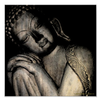 Peaceful Buddha Poster