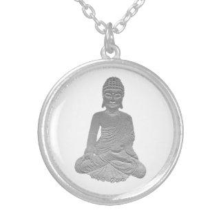 Peaceful Buddha Round Pendant Necklace