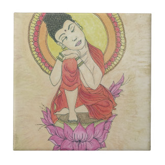 Peaceful buddha tile