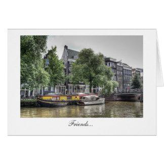 Peaceful Canal Scene - Friends Greeting Card
