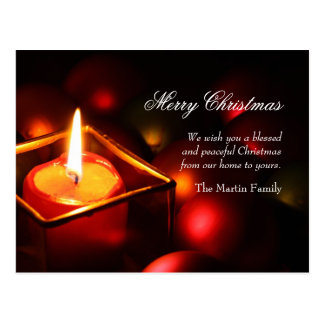 Peaceful Candle Christmas Postcard