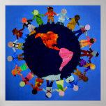 Peaceful Children around the World Poster