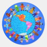 Peaceful Children Round Sticker
