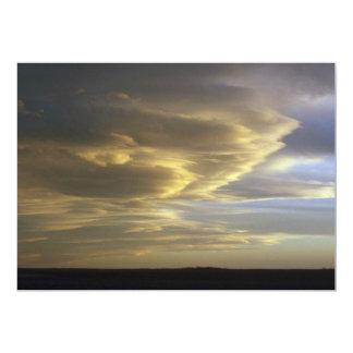 Peaceful Chinook clouds (stratus) Custom Invitation