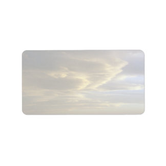 Peaceful Chinook clouds (stratus) Address Label