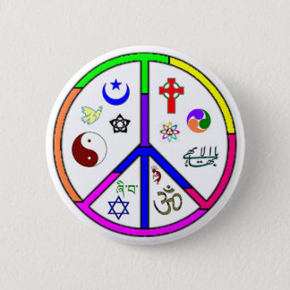 Peaceful Coexistence 6 Cm Round Badge