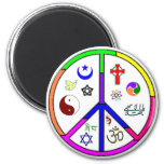 Peaceful Coexistence 6 Cm Round Magnet