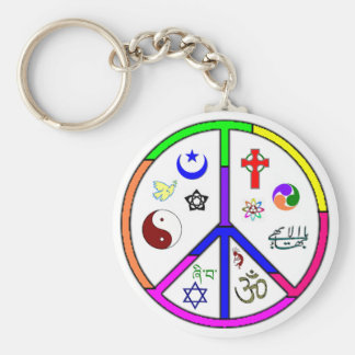 Peaceful Coexistence Key Ring