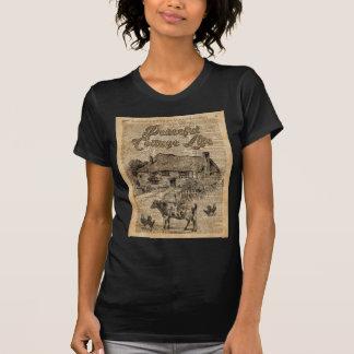Peaceful Cottage Life Vintage Dictionary Art T-Shirt