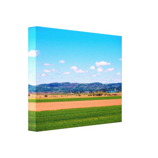 Peaceful Countryside In The Sunlight Canvas Print