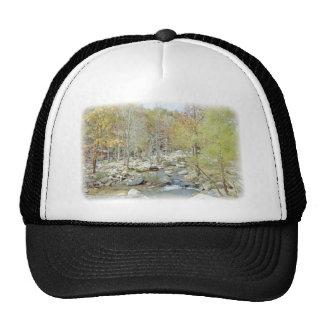 Peaceful Creek Deep In The Woods Trucker Hat