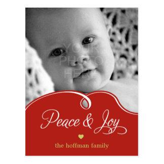 Peaceful Curves Christmas Holiday Photo Card  Post Postcard