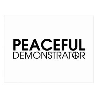 Peaceful Demonstrator Postcard