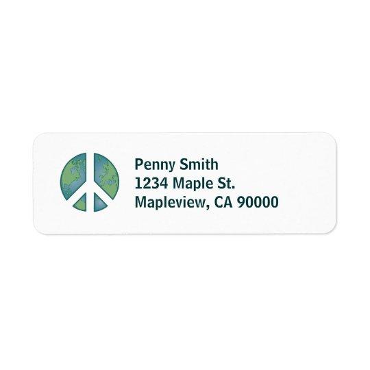 Peaceful Earth Address Label