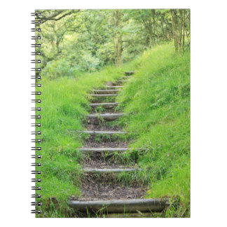 Peaceful Forest Path with Green Grass Notebooks