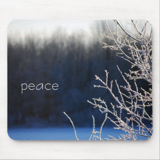 Peaceful Frosted Morning Mouse Pad