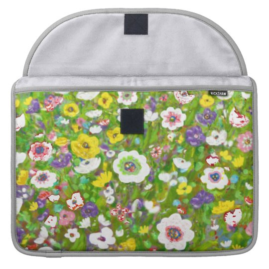 Peaceful Garden Computer Case by Rino Li Causi Sleeves For MacBooks