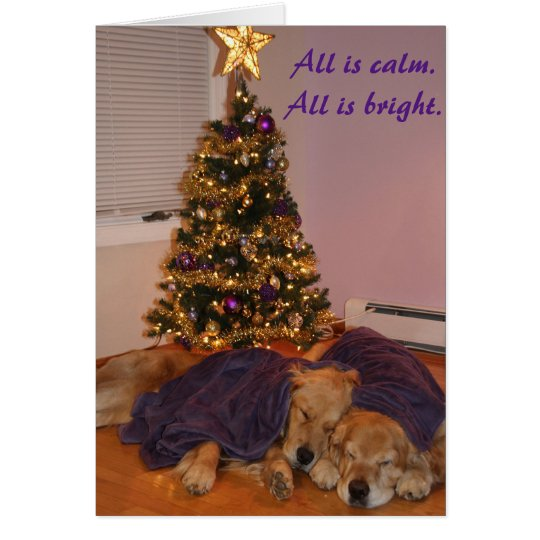 Peaceful Golden Retriever Holiday Card