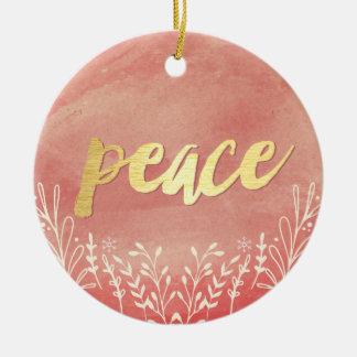 Peaceful Greeting Custom Ornaments