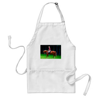 Peaceful horse in the forest standard apron