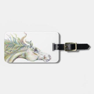 Peaceful Horse Travel Bag Tags