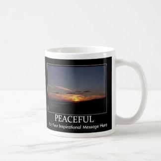 """Peaceful"" Inspirational / Motivational Mug w/cust"