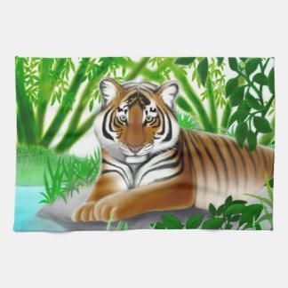 Peaceful Jungle Tiger Kitchen Towel