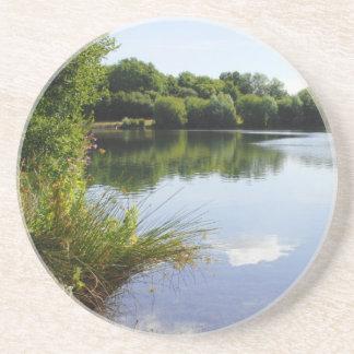 Peaceful lake coaster