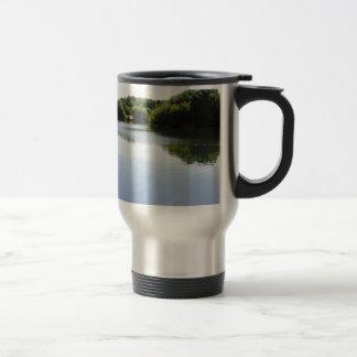 Peaceful lake travel mug