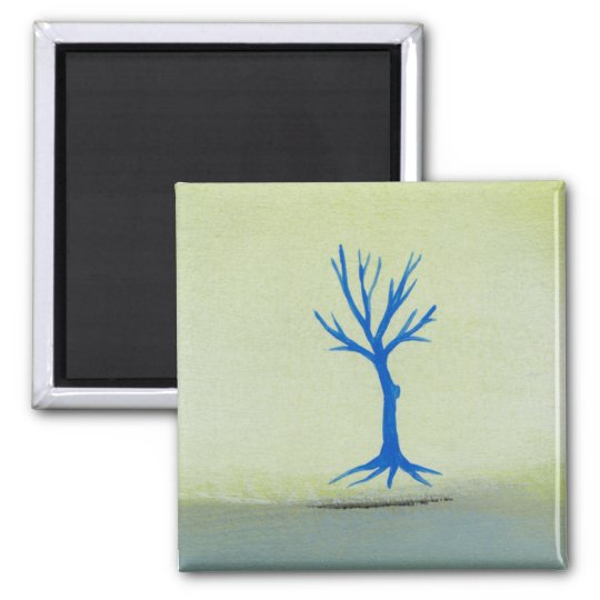 Peaceful landscape art hovering tree painting magnet