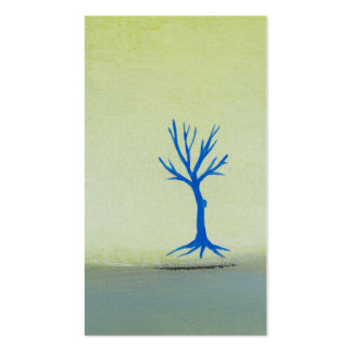 Peaceful landscape art hovering tree painting pack of standard business cards